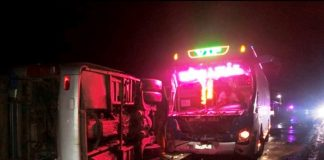 2 xe khách va nhau trên quốc lộ, 1 người chết tại chỗ