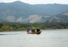 Sông Sê San-đoạn chảy qua huyện Ia Grai.  Ảnh: Phương Linh