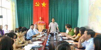 Toàn cảnh buổi lấy ý kiến về dự án giảm tốc-Trường học an toàn. Ảnh: Lê Hòa.