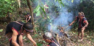 Lễ cúng giọt nước làng Ia Gri, huyện Chư Pah, một trong những lễ hội truyền thống của đồng bào dân tộc Jrai được tổ chức thường xuyên. Ảnh: Võ thanh Thảo