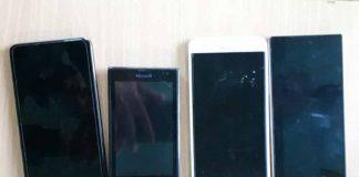 4 chiếc điện thoại do siêu trộm nhí cạy cửa của dân để trộm cắp. Ảnh: H.S
