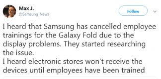 Cập nhật bất ngờ về Galaxy Fold: hủy ra mắt sản phẩm, dừng đào tạo nhân viên