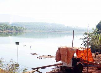 Hồ nước nơi em Minh bị chết đuối. Ảnh: Thiên Di