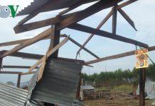 Gia Lai: Lốc xoáy làm tốc mái và sập gần 50 căn nhà