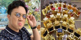 Trấn Thành khoe sở hữu hàng trăm chai nước hoa hàng hiệu