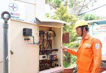 Máy phát điện dự phòng 250kVA được đặt tại Sở Giáo dục và Đào tạo để phục vụ in sao đề thi và Ban chỉ đạo thi trong thời gian diễn ra kỳ thi THPT quốc gia 2019. Ảnh: N.S