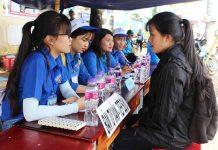 Nhờ được tư vấn, tiếp sức kịp thời, nhiều thí sinh vững tâm bước vào kỳ thi THPT Quốc gia.                                       Ảnh: PHAN LÀI