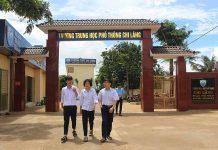 Trường THPT Chi Lăng được xây dựng khang trang.         Ảnh: N.G