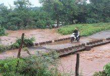 Cầu tràn Ia Hlốp thường bị ngập khi có mưa lớn. Ảnh: N.D