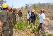Lực lượng chức năng huyện Ia Pa tuyên truyền, vận động người dân giao đất để trồng rừng.  Ảnh: T.Đ