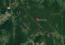 Nhãn vị trí Làng du lịch cộng đồng Kon Chư Răng trên Google Maps. Ảnh: Hồng Thi (chụp từ màn hình vệ tinh)