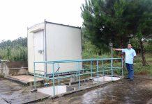 Hệ thống quan trắc nước thải tự động, liên tục của Khu Công nghiệp Trà Đa. Ảnh: H.T