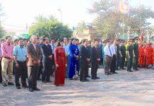 Quang cảnh sự kiện kỷ niệm chiến thắng Ngọc Hồi-Đống Đa diễn ra vào mùng 4 tháng Giêng hàng năm tại Di tích An Khê Đình (thị xã An Khê). Ảnh: Mộc Trà