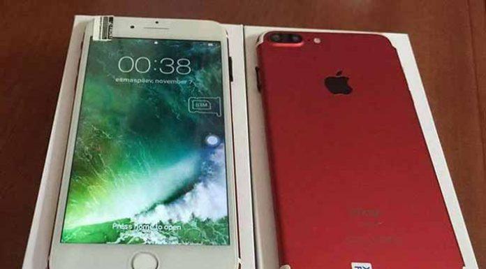 Đối tượng đã đưa cho gia đình anh Hưng 1 chiếc điện thoại Iphone 7 Plus giả để làm tin. Ảnh: Văn Ngọc