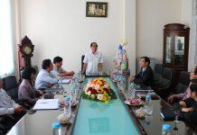 Chủ tịch UBND tỉnh Võ Ngọc Thành chúc tập thể lãnh đạo, cán bộ, viên chức, người lao động Báo Gia Lai đón Tết an lành, hạnh phúc. Ảnh: Q.T