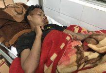 Anh Kpă Pin (xã Thăng Hưng, huyện Chư Prông) đang nằm điều trị tại Bệnh viện Đa khoa tỉnh. Ảnh: L.G
