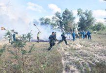 Huyện Chư Pưh tổ chức diễn tập các phương án chữa cháy rừng. Ảnh: N.T