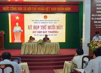 Quang cảnh kỳ họp thứ 11 HĐND huyện Chư Sê. Ảnh: Hoàng Viên