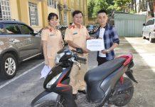 Phát hiện xe mô tô trộm cắp qua công tác đăng ký phương tiện