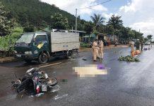Pleiku: Tông vào đuôi xe tải, 1 người tử vong