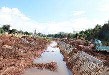 Dự án kè chống sạt lở suối Hội Phú đang trong giai đoạn nước rút