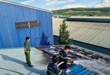 Pleiku: Cháy hệ thống điện mặt trời áp mái
