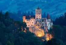 Lâu đài Bran ở vùng Transylvania, Romania.