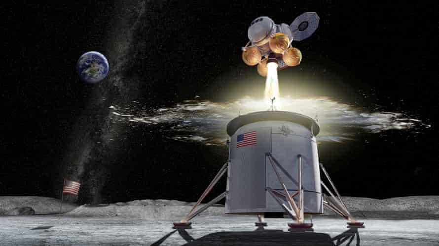 Hình ảnh của một nghệ sĩ về sứ mệnh mặt trăng Artemis. Ảnh: AP.