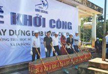 Hỗ trợ 410 triệu đồng xây dựng 2 phòng học tại xã Ia Băng