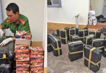 Công an huyện Đak Đoa thu giữ hơn 350 kg pháo cất giấu tại rẫy cà phê