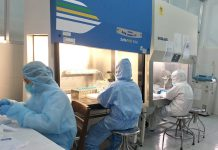 Kết quả xét nghiệm của bệnh nhân 1696 dương tính với SARS-CoV-2 trở lại sau 7 ngày ra viện. Ảnh: Như Nguyện