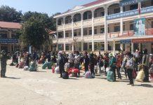 Công dân  chuẩn bị rời khu cách ly tại Trường THPT Nguyễn Tất Thành, huyện Ia Pa. Ảnh: Mai Linh