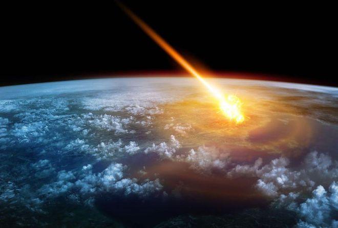 Mô phỏng một thiên thạch lao xuống Trái đất. Ảnh: AFP/GETTY