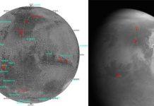 Hình ảnh đầu tiên về Sao Hỏa do tàu thăm dò Thiên Vấn-1 của Trung Quốc chụp từ khoảng cách 2,2 triệu km. (Ảnh: THX/ TTXVN)