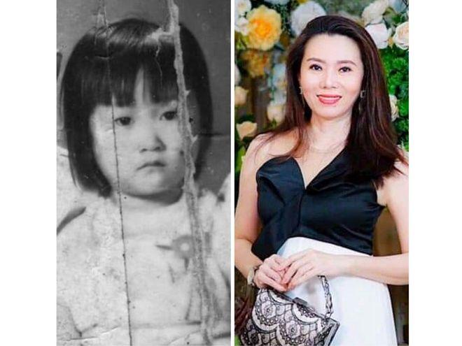 Cuộc sống của chị Quế Châu (phải) đảo lộn khi tự dưng hình ảnh của mình được chia sẻ tràn lan trên mạng xã hội cùng câu chuyện không phải của chị /// CHỤP MÀN HÌNH