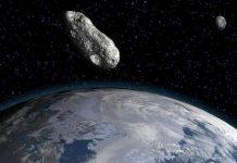 Tiểu hành tinh đang lao về phía trái đất. Ảnh minh hoạ: AFP/Getty