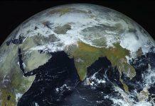 Ảnh trái đất do tàu vũ trụ Electro-L chụp. Ảnh: Roscosmos