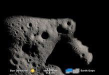 Tàu vũ trụ phát hiện bóng tối gần cực nam mặt trăng. Ảnh: NASA