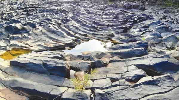 Quần thể đá cổ ở làng Đôn Hyang (xã Đê Ar, huyện Mang Yang). Ảnh: N.Q.T