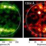 Kính thiên văn Hubble tìm thấy bằng chứng về hơi nước trong bầu khí quyển mỏng mặt trăng của sao Mộc. Ảnh: NASA