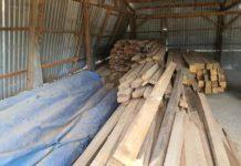 gỗ xây dựng được xẻ tại doanh nghiệp
