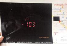 Hành vi điều khiển xe máy chạy quá tốc độ của anh H. đã bị lực lượng Công an ghi lại. Ảnh: Văn Ngọc