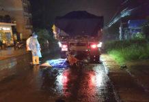 Anh Trung đã tử vong khi tông vào đuôi xe tải. Ảnh: Văn Ngọc