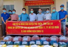 Hơn 16 tấn hàng được cán bộ và Nhân dân huyện Phú Thiện ủng hộ người dân Quận 11 (TP. Hồ Chí Minh). Ảnh: Lê Đại