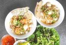 Mì Phú Chiêm là món ăn được nhiều thực khách ở TP. Pleiku ưa thích. Ảnh: Võ Thanh Thảo