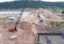 Công trình Dự án thủy lợi hồ chứa nước Ia Rtô. Ảnh: Nam Cường
