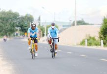 Phong trào xe đạp thể thao tại thị xã Ayun Pa đang nở rộ. Ảnh: Văn Ngọc