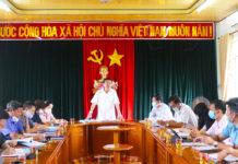 Ủy viên Ban Thường vụ, Chủ nhiệm Ủy ban Kiểm tra Tỉnh ủy, Trưởng Ban Pháp chế HĐND tỉnh Thái Thanh Bình phát biểu kết luận buổi giám sát tại huyện Kbang. Ảnh Ngọc Minh