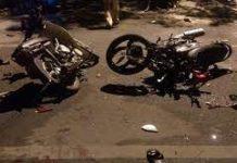 Ayun Pa: 2 xe máy tông nhau, 4 người thương vong